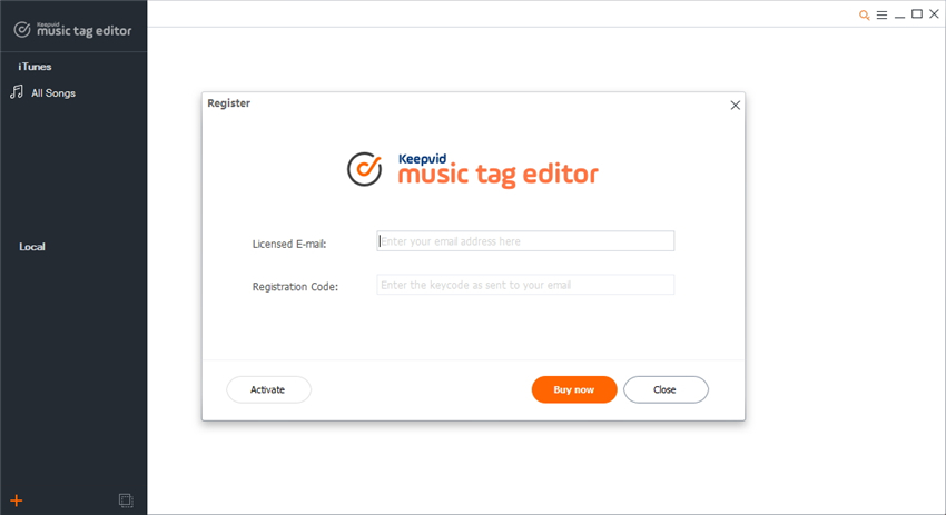 register keepvid music tag editor